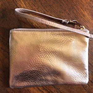 Forever 21 Metallic Pink Wristlet Handbag